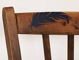 Wandtattoos halten auch auf Möbelstücken