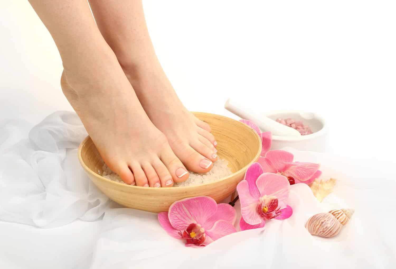 Entspannung für die Füße – Fußbad