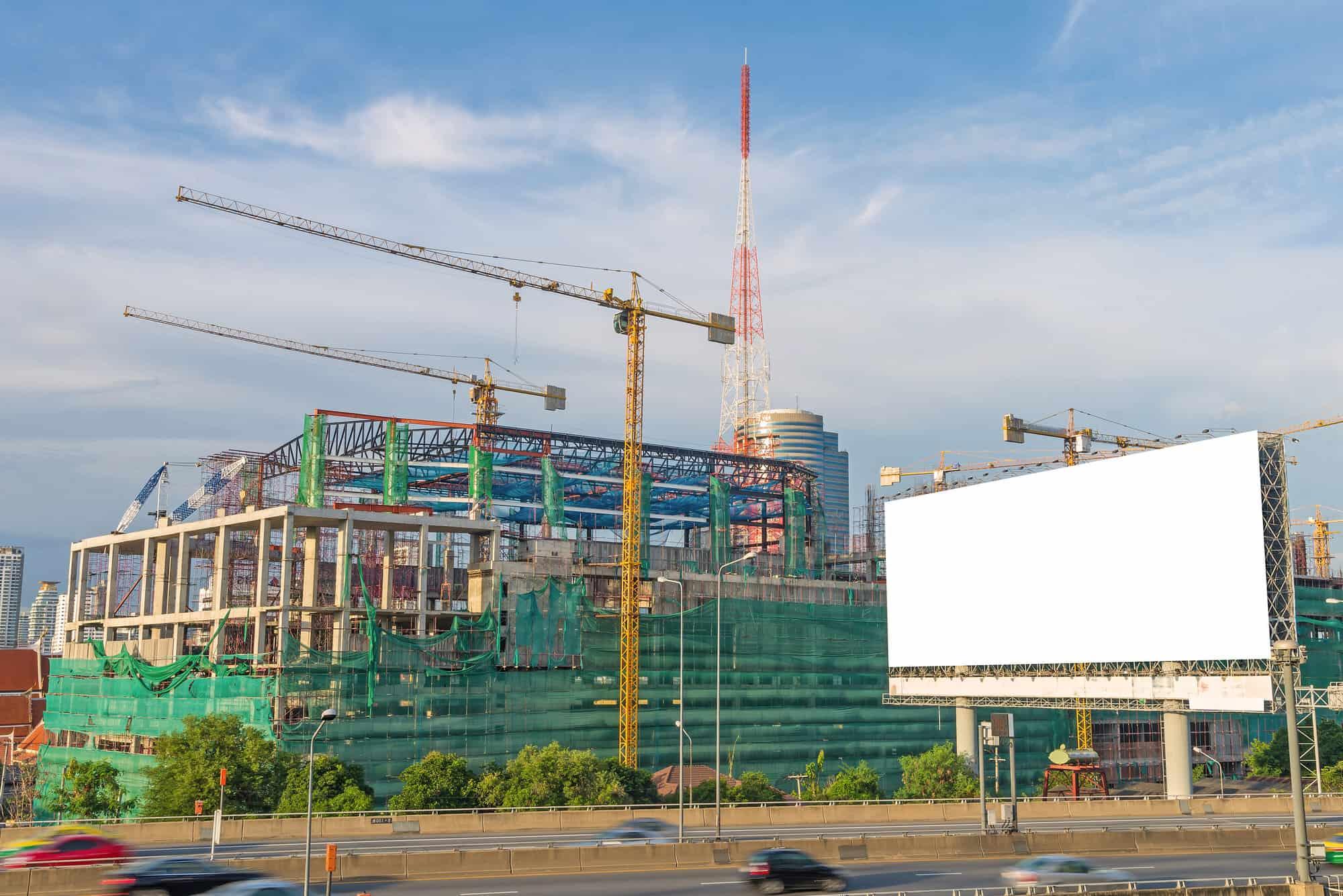 Werbung Baustelle