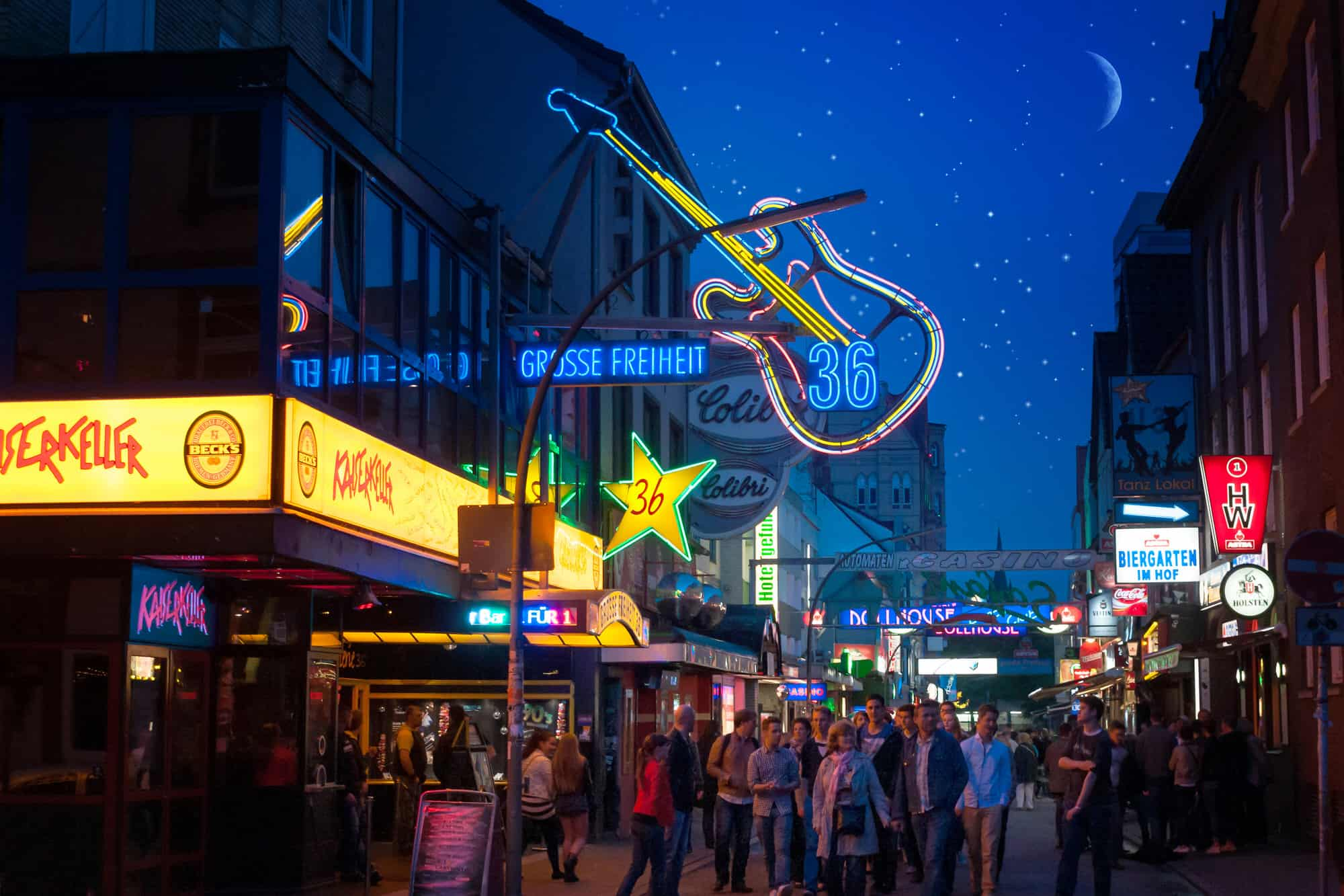 Reeperbahn in Hamburg