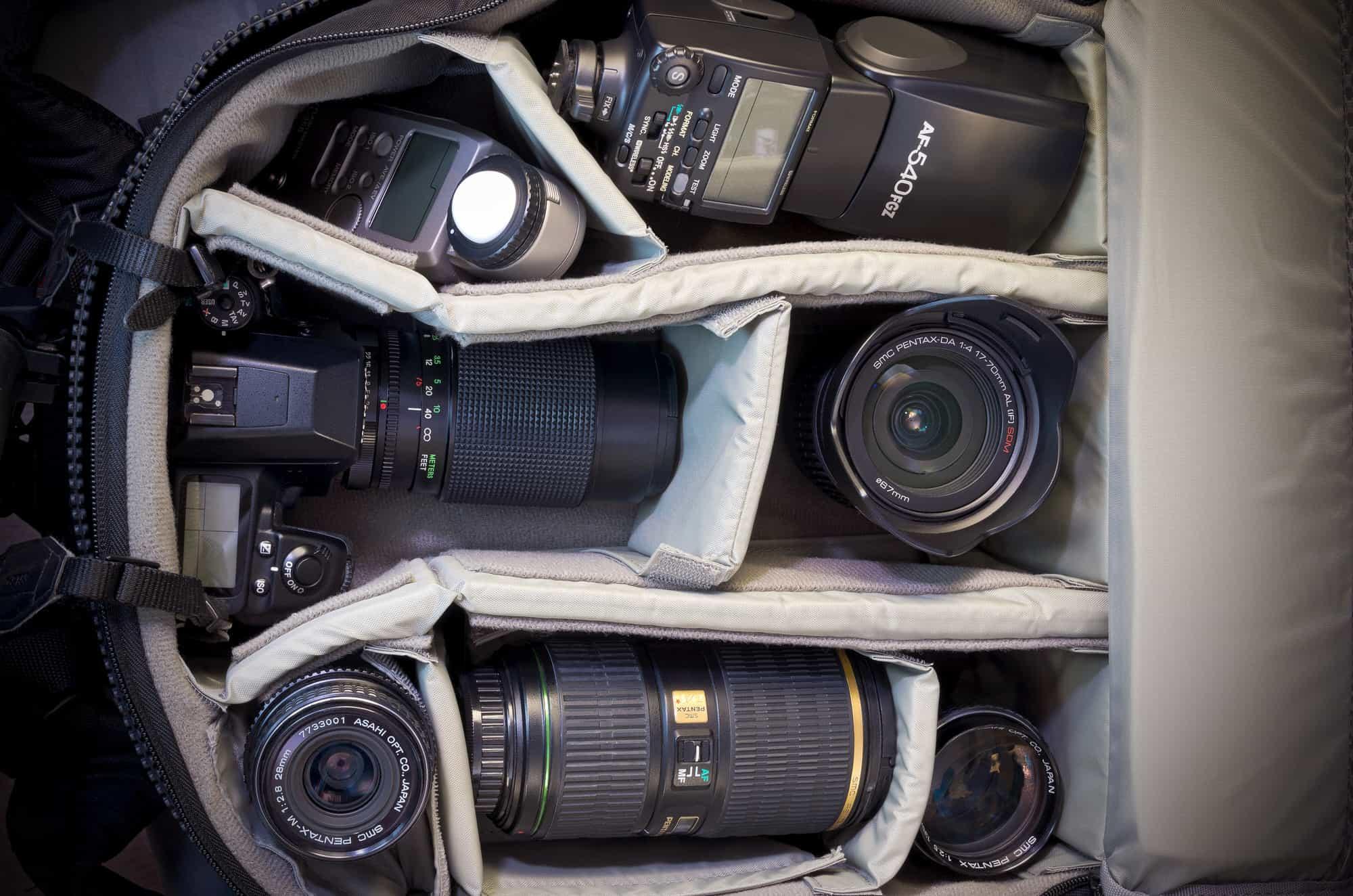 Kamerataschen für die Fotoausrüstung