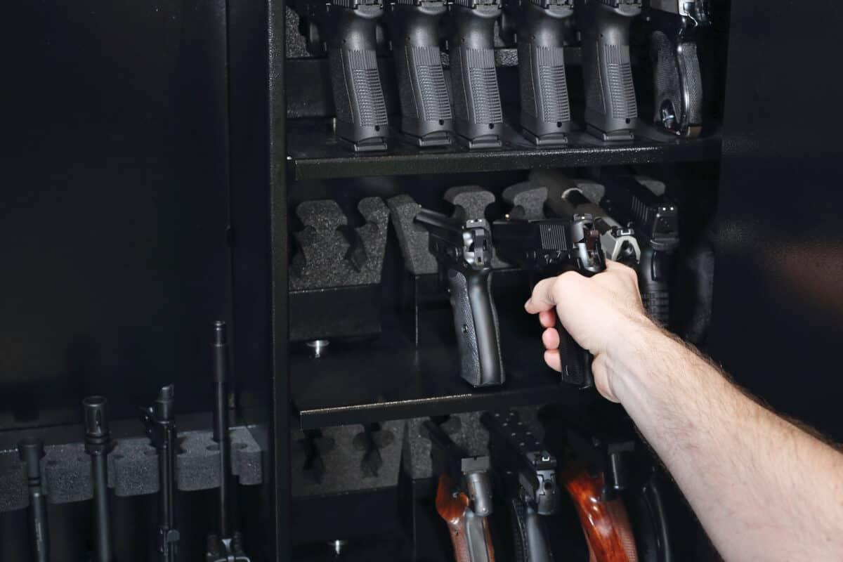 Waffenschrank Sichere Verwahrung für Schusswaffen